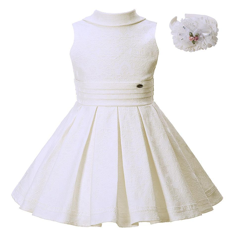 Backless Jacquard Party Dress - girls dress - As picture / 3 - Strawbie Collections