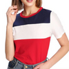 Colour Block Casual Short Sleeve Tee Top Multi / L in Strawbie Collections - Girls Tops