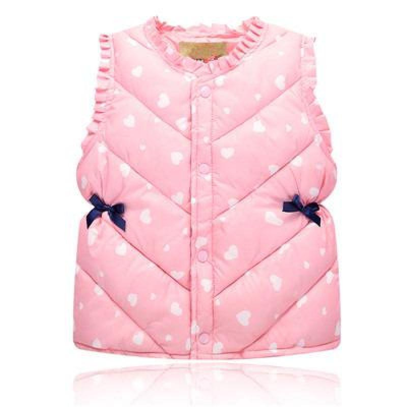 Heart Pattern Winter Vest - vests - Pink / 3 - Strawbie Collections