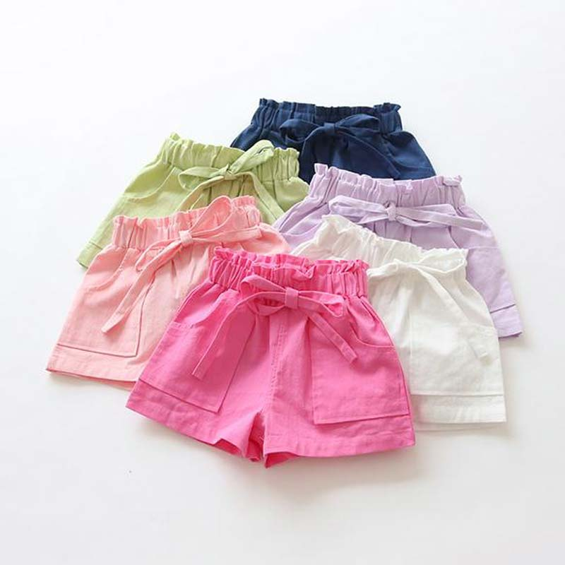 Candy Colored kids Shorts With Front Pockets  in Strawbie Collections - girls shorts