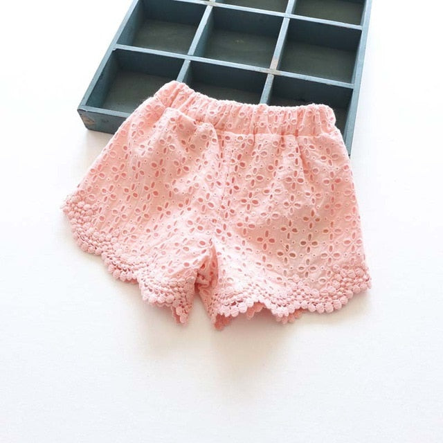 Princess Lace Shorts for Summer Spring pink / 7 in Strawbie Collections - girls shorts