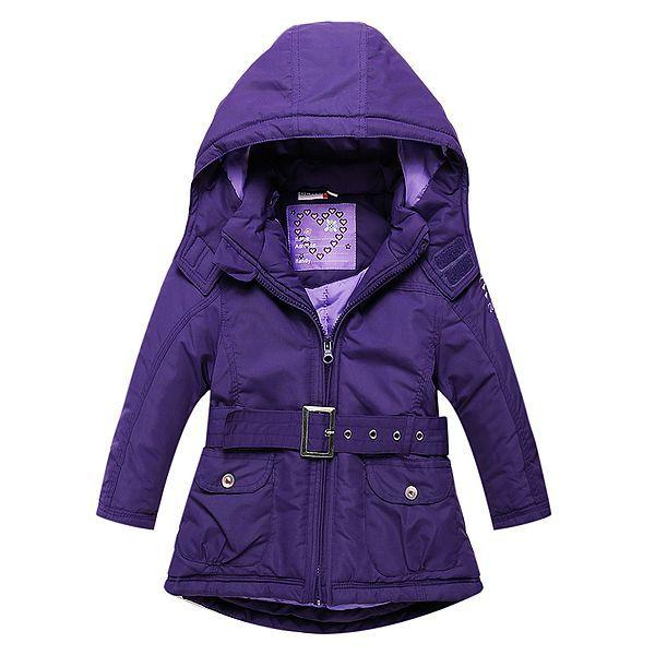 Purple Padded Winter Jacket - jackets - as picture / 2 - Strawbie Collections