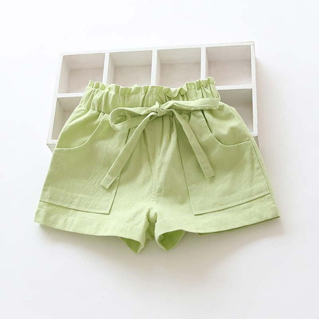Candy Colored kids Shorts With Front Pockets green / 7 in Strawbie Collections - girls shorts