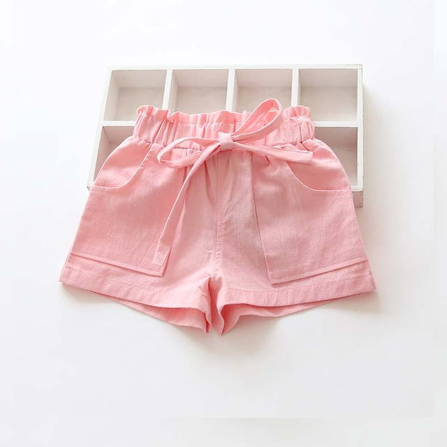 Candy Colored kids Shorts With Front Pockets pink / 7 in Strawbie Collections - girls shorts