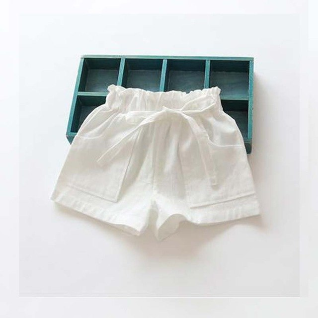 Candy Colored kids Shorts With Front Pockets white / 7 in Strawbie Collections - girls shorts