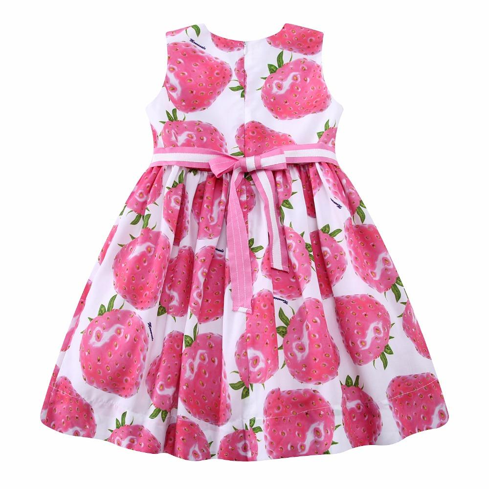 Cute Strawberry Beaded Dress  in Strawbie Collections - girls dress