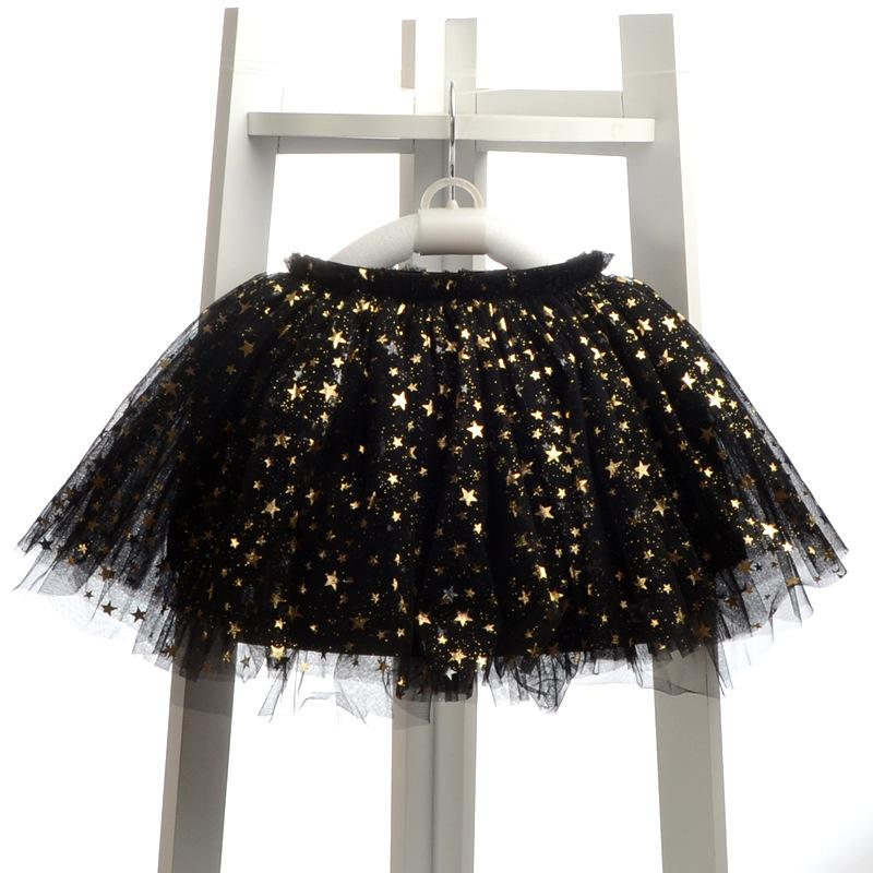 Lovely Tutu With Appliques Stars Bow - girl skirts - - Strawbie Collections