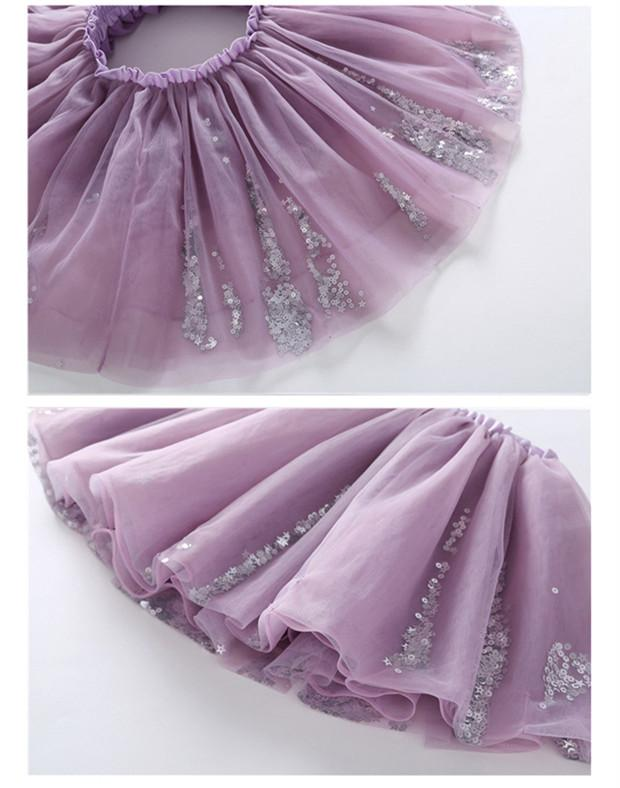 Lovely Tutu With Appliques Stars Bow  in Strawbie Collections - girl skirts