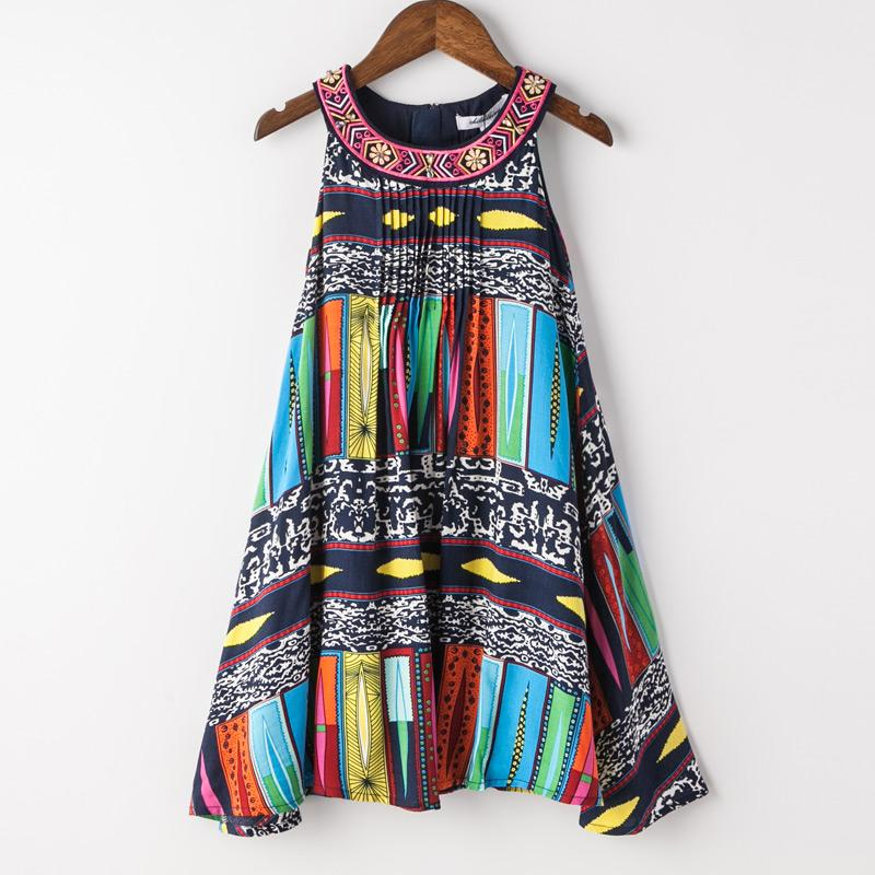 Bohemian Fashion Party Dress For Girls - girls dress - Multi / 10 - Strawbie Collections
