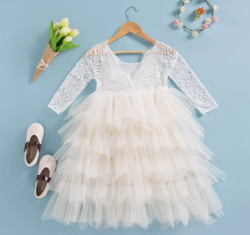 Lace Party Outfit With A Flower Pin  in Strawbie Collections - party dress