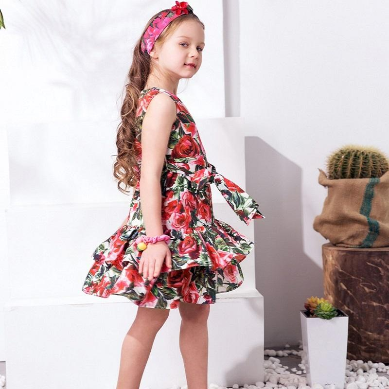 Lovely Floral Princess Dress - girls dress - - Strawbie Collections