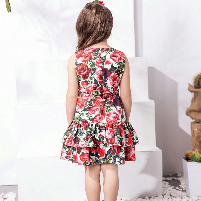 Lovely Floral Princess Dress  in Strawbie Collections - girls dress