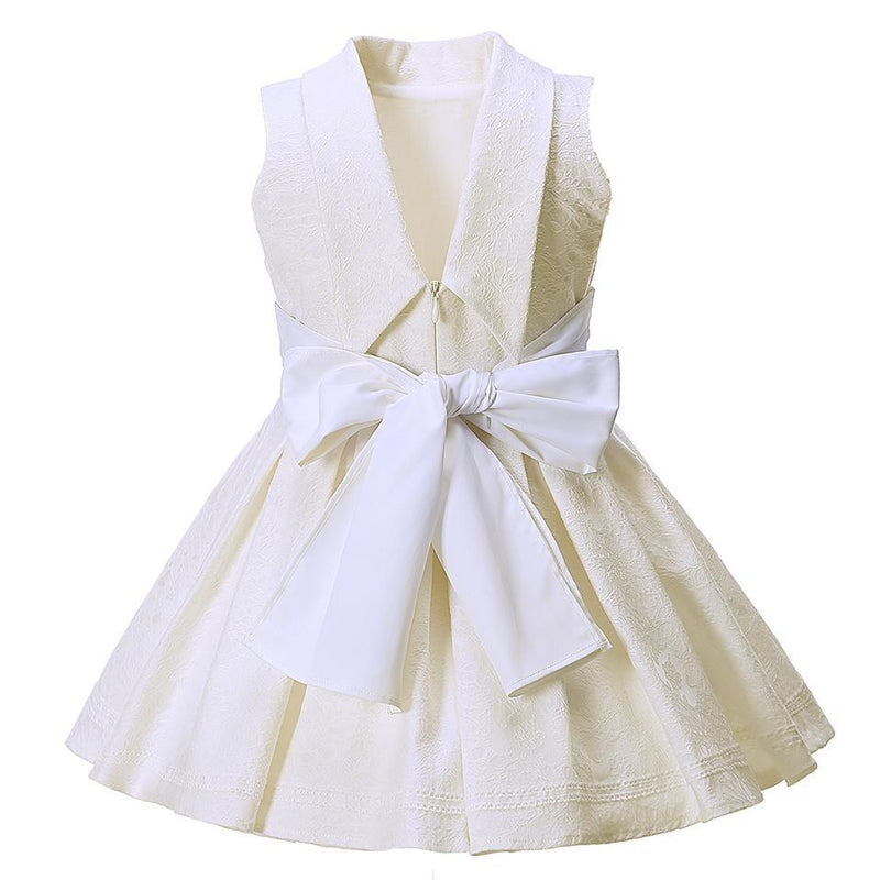 Backless Jacquard Party Dress  in Strawbie Collections - girls dress