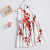 Floral Pattern Sleeveless Summer Dress  in Strawbie Collections - girls dress