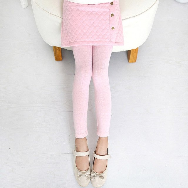 Spring Autumn Leggings With Slim Skirt Pink / 14 in Strawbie Collections - Girls Pants