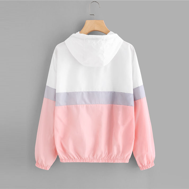 Elastic Waist Drawstring Casual Jacket For Teens  in Strawbie Collections - jackets