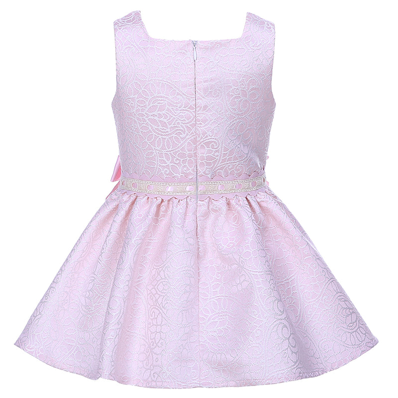 Shiny Pink Princess Dress With A Bow Headband  in Strawbie Collections - girls dress