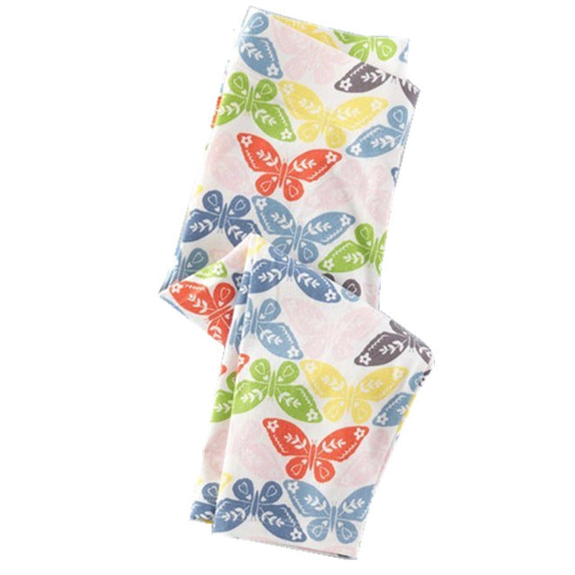Printed Cotton Girls Leggings 82 / 7 in Strawbie Collections - Girls Bottoms