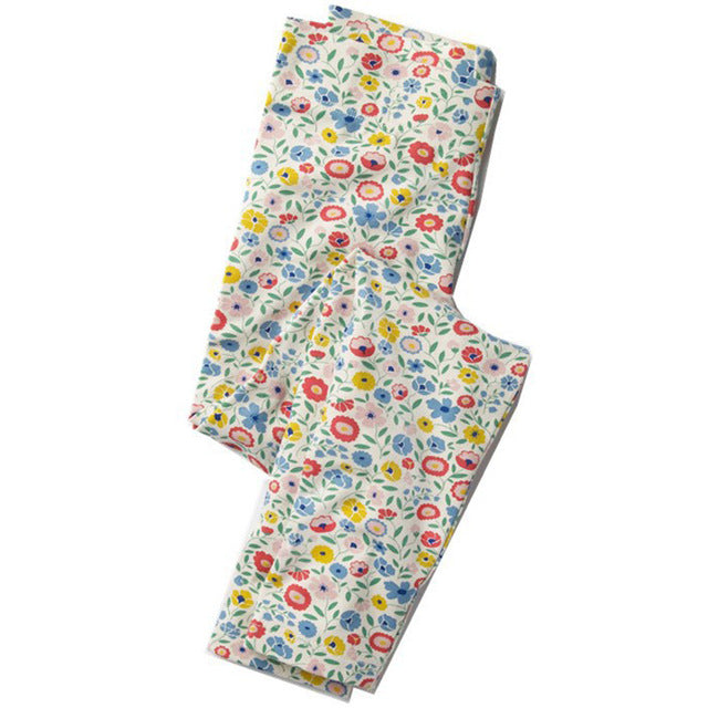 Printed Cotton Girls Leggings  in Strawbie Collections - Girls Bottoms