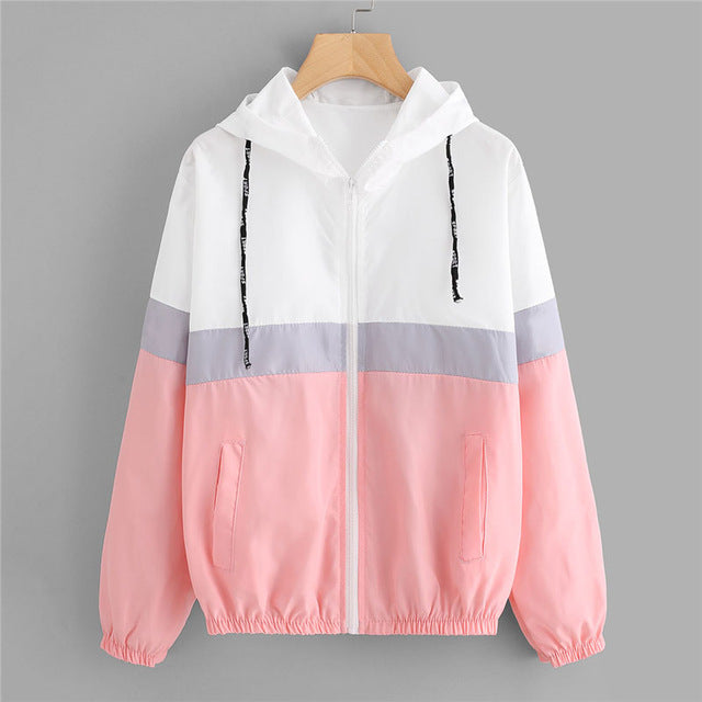 Elastic Waist Drawstring Casual Jacket For Teens Multi / XL in Strawbie Collections - jackets