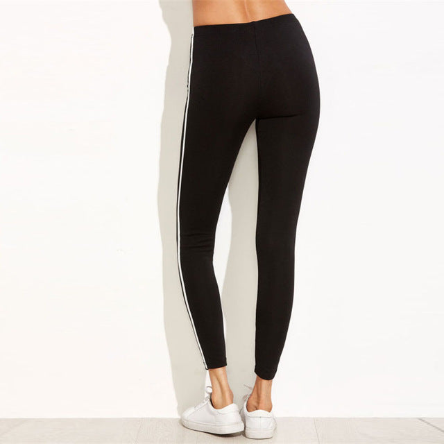 Stretchy Casual Everyday Pants Black / L in Strawbie Collections - Girls Bottoms