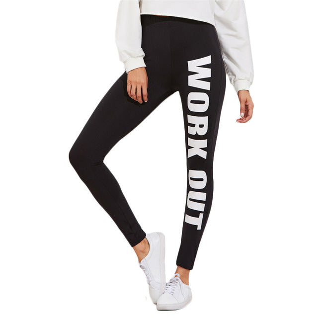 Black High Waist Workout Leggings Black / L in Strawbie Collections - Girls Pants