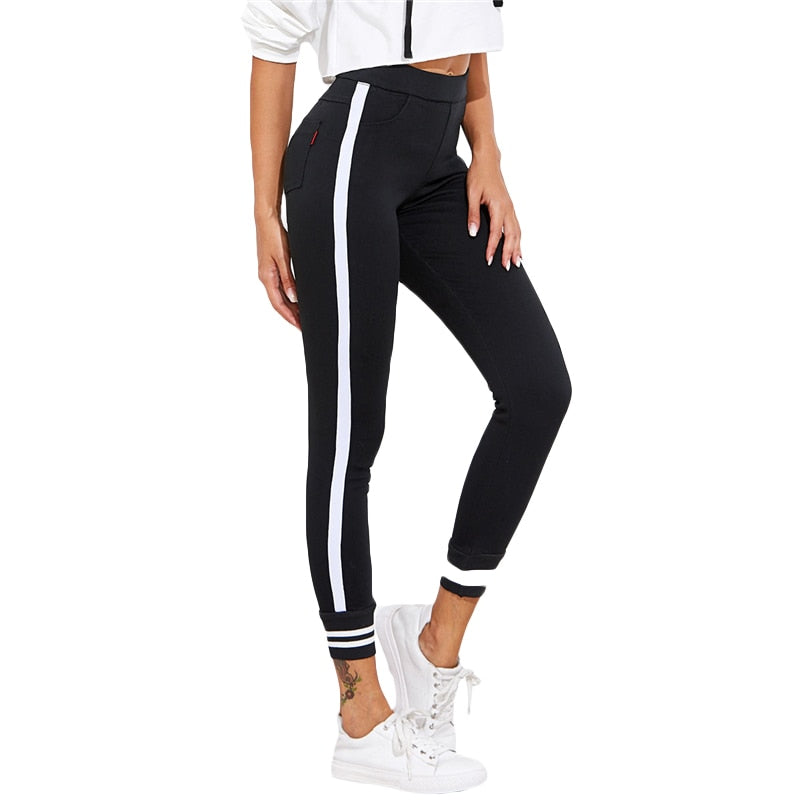 Elastic Waist Tapered Active Pants  in Strawbie Collections - Girls Pants