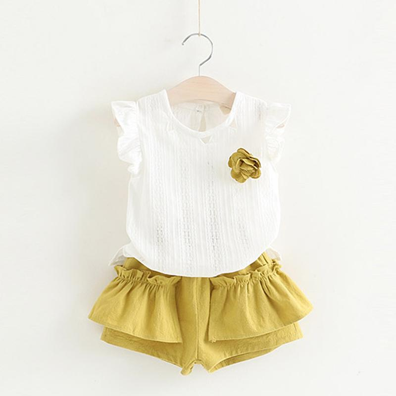 Spring Fashion Dress Set yellow / 4 in Strawbie Collections - girls dress set