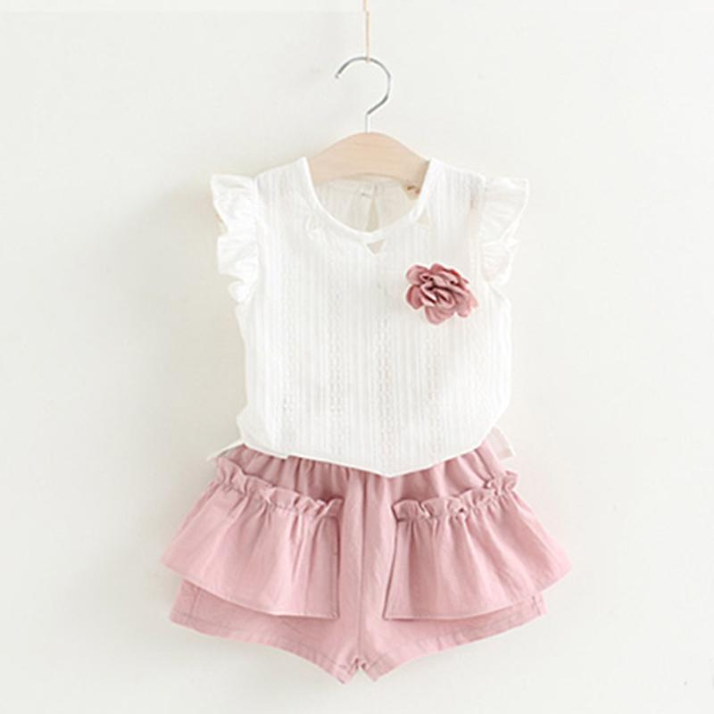 Spring Fashion Dress Set pink / 4 in Strawbie Collections - girls dress set