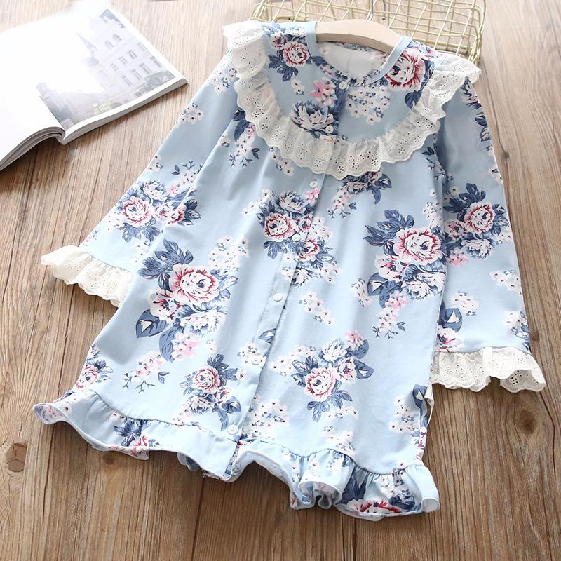 Floral Button Ruffles Dress 8 in Strawbie Collections - girls dress
