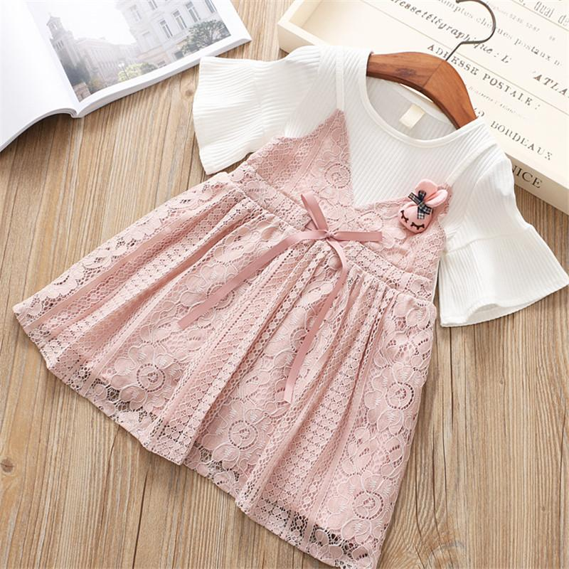 Chiffon Lace Princess Dress Pink / 6 in Strawbie Collections - girls dress