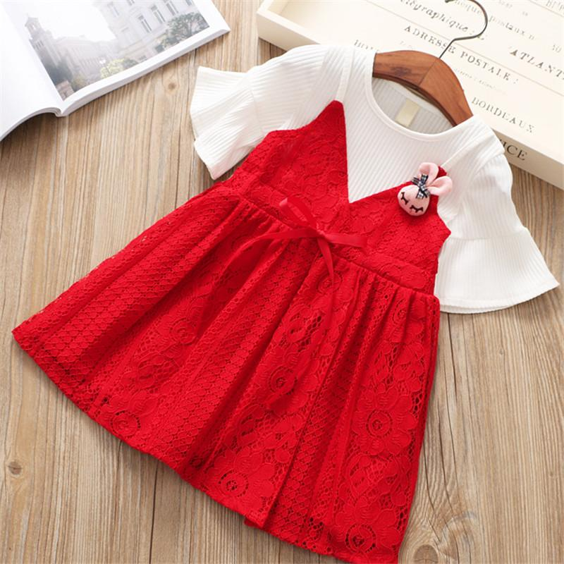 Chiffon Lace Princess Dress Red / 6 in Strawbie Collections - girls dress