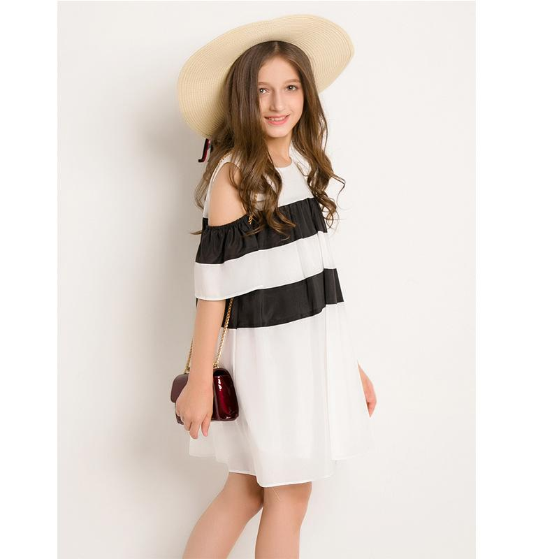 Off Shoulder Dress For Teens  in Strawbie Collections - girls dress