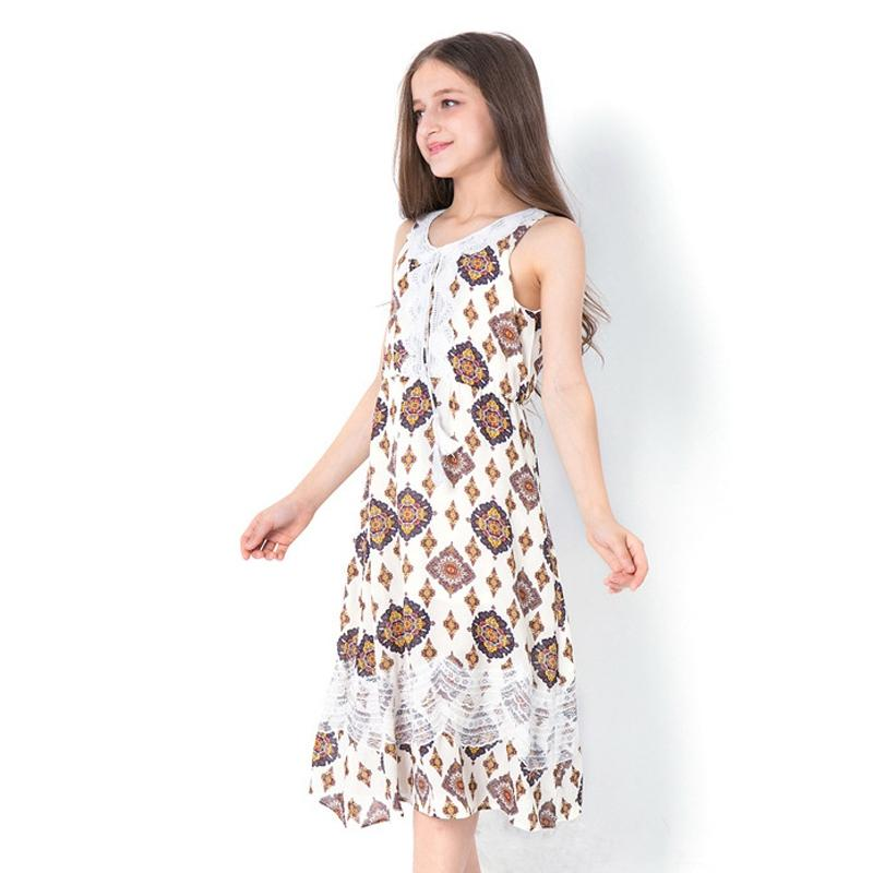Sleeveless Long Bohemian Style Dress  in Strawbie Collections - girls dress