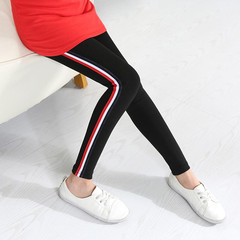 Girls Active Pants With Stripes - Girls Pants - black / 2 - Strawbie Collections