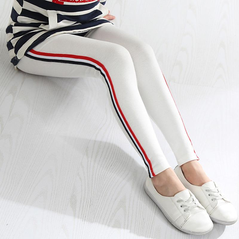 Girls Active Pants With Stripes white / 13 in Strawbie Collections - Girls Pants