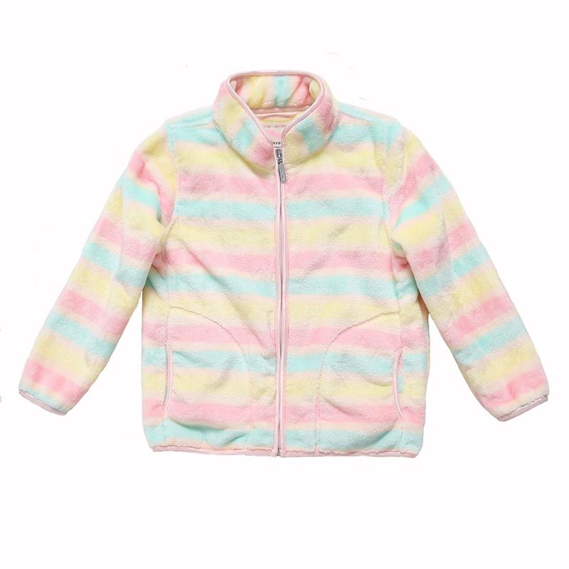 Warm And Soft Colorfull Zipper Jacket - jackets - Multi / 3 - Strawbie Collections