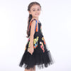 Princess Lace Dress with Flower Embroidery  in Strawbie Collections - girls dress