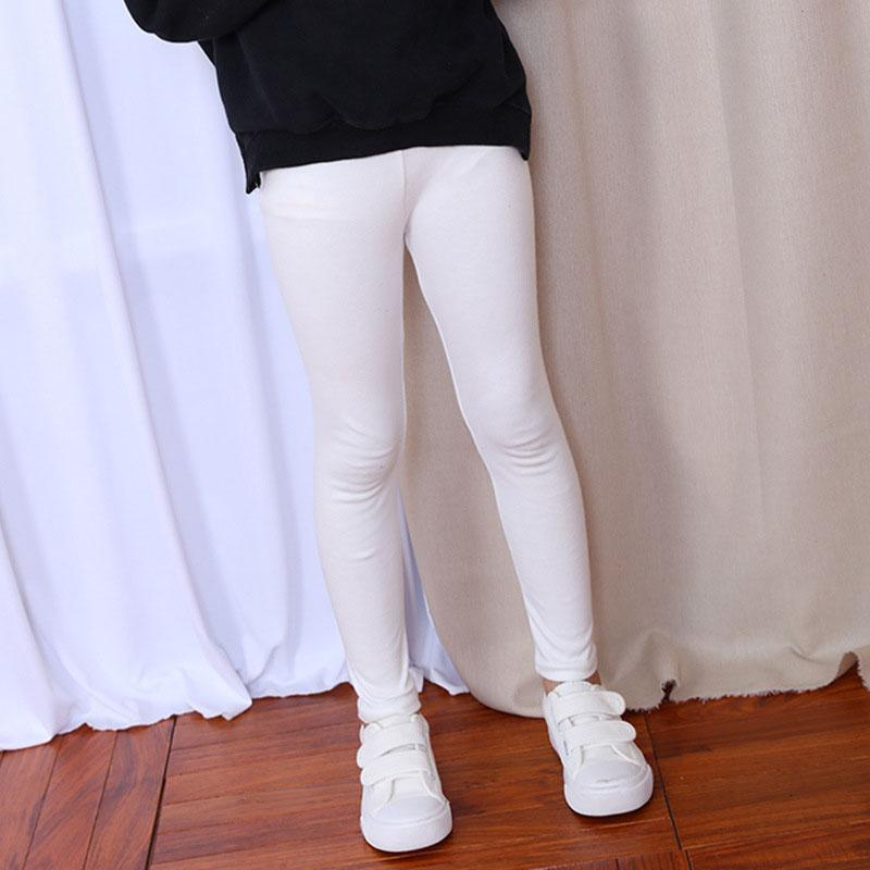 Classic Comfy Everyday Leggings white / 12 in Strawbie Collections - girls leggings