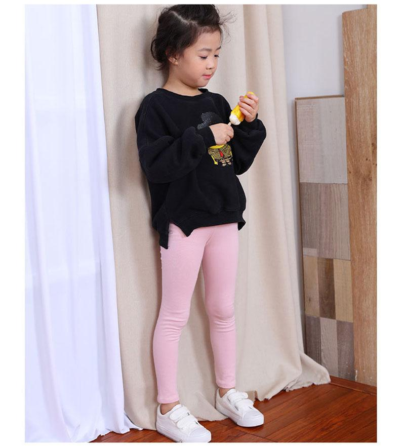 Classic Comfy Everyday Leggings pink / 12 in Strawbie Collections - girls leggings