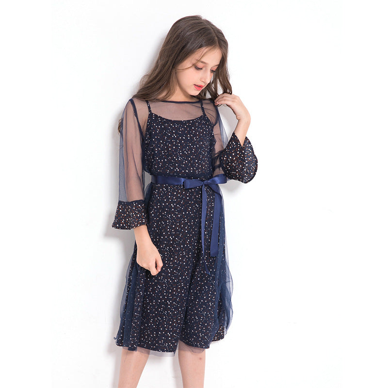 Elegant Teenage Girls Party Dress  in Strawbie Collections - girls dress