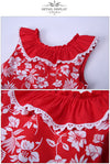 Red Flower Print Sleeveless Dress With Headband  in Strawbie Collections - girls dress