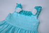 Boutique Style Beautiful Blue Layered Dress  in Strawbie Collections - girls dress