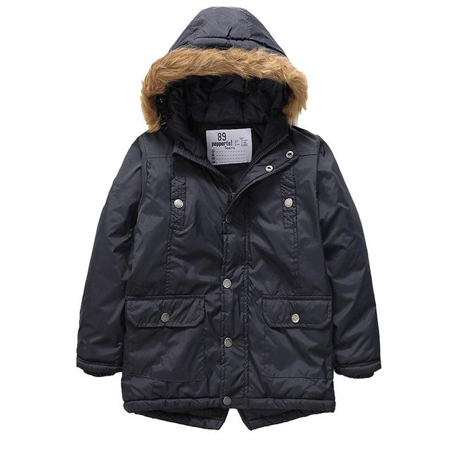Fur Hooded Long Jackets For Girls blue / 9 in Strawbie Collections - jackets