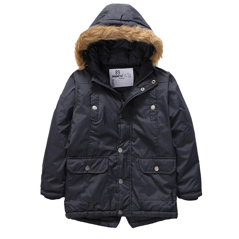 Fur Hooded Long Jackets For Girls  in Strawbie Collections - jackets