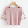 Lovely Pink Crop Top With Front Knot For Teens  in Strawbie Collections - Girls Tops