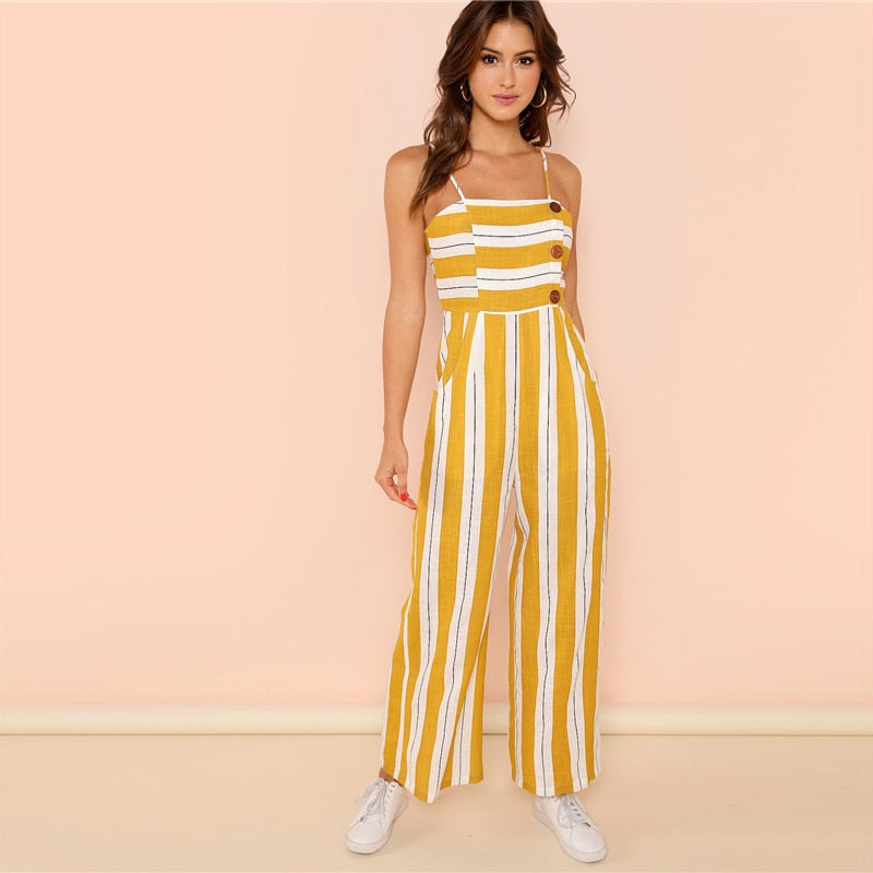Striped Casual Jumpsuit for Summer