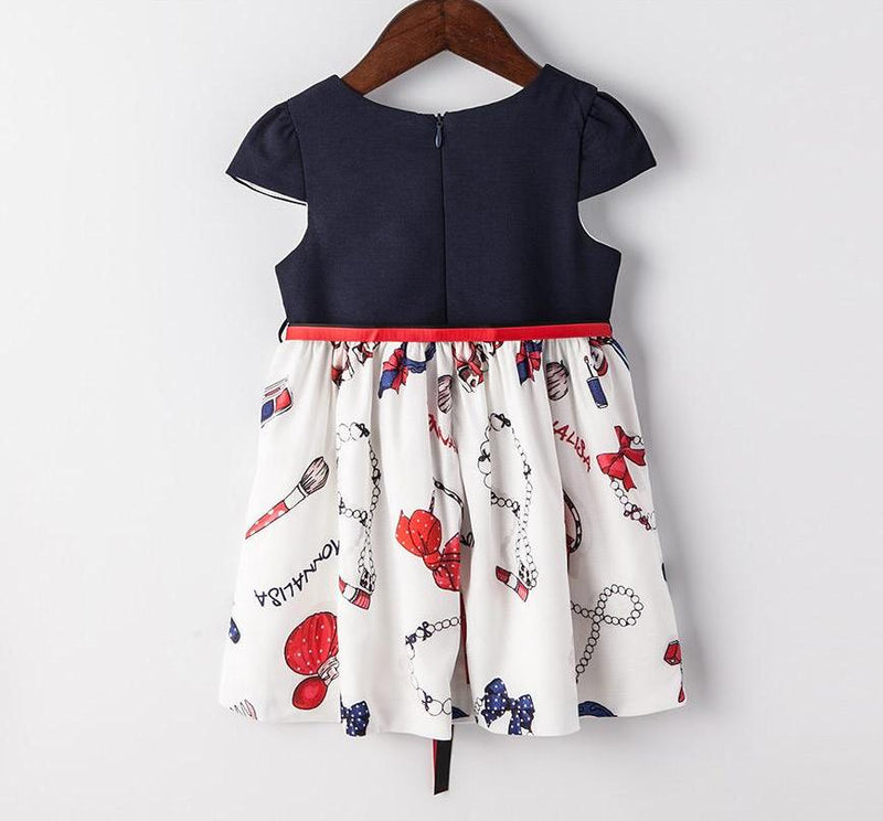 Summer Cotton Party Dress For Kids  in Strawbie Collections - girls dress