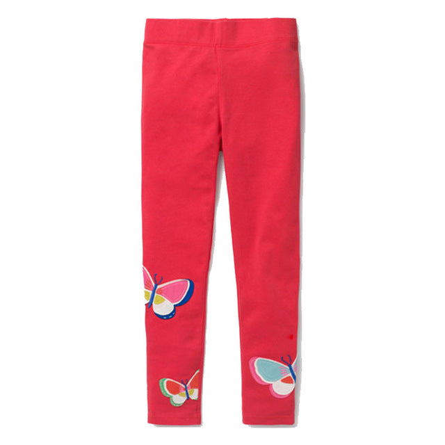 Printed Cotton Girls Leggings 94 / 7 in Strawbie Collections - Girls Bottoms