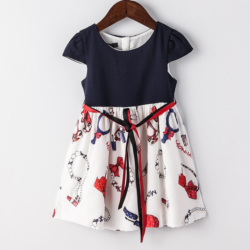 Summer Cotton Party Dress For Kids